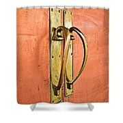 Door Handle Shower Curtain
