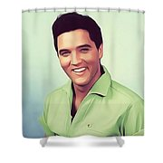 Elvis Presley, Rock And Roll Legend Shower Curtain