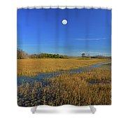 7- Everglades Moon Shower Curtain