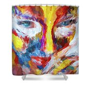 Face Paint Shower Curtain
