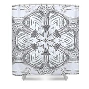 Fern Frost Mandala Shower Curtain