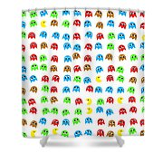 Game Monsters Seamless Generated Pattern Shower Curtain