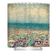 Gordon Beach, Tel Aviv, Israel Shower Curtain