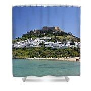 Greece Shower Curtain