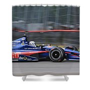 High Speed Indycar Shower Curtain