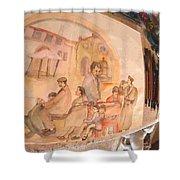 Italy Life Love Linguini Album Shower Curtain