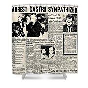 John F. Kennedy (1917-1963) Shower Curtain by Granger