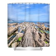 Jurassic Coast - England Shower Curtain