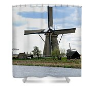 Kinderdijk Windmills Shower Curtain