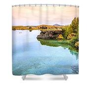 Lake Myvatn Shower Curtain