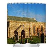 Lindisfarne Priory Shower Curtain