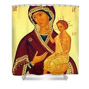 Madonna Enthroned Christian Art Shower Curtain
