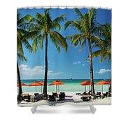 Main Beach Of Tropical Paradise Boracay Island Philippines Shower Curtain