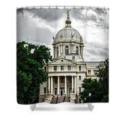 Mc Lennan County Courthouse - Waco Texas Shower Curtain