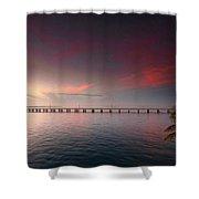 7 Mile Bridge Sunset Shower Curtain