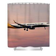 Monarch Airlines Airbus A321-231 Shower Curtain