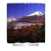 Mount Fuji In Autumn Shower Curtain
