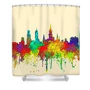 New Orleans Louisiana Skyline Shower Curtain