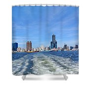 Panoramic View Of Kaohsiung City Shower Curtain