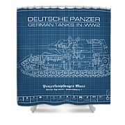 Panzerkampfwagen Maus Shower Curtain