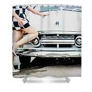 Pin Up #17 Shower Curtain