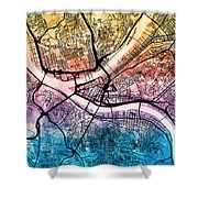 Pittsburgh Pennsylvania Street Map Shower Curtain
