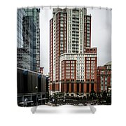 Providence Rhode Island City Skyline In October 2017 Shower Curtain