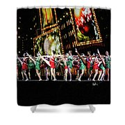 Radio City Rockettes New York City Shower Curtain