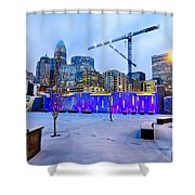 Rare Winter Weather In Charlotte North Carolina Shower Curtain