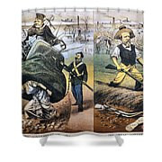 Reconstruction Cartoon Shower Curtain