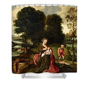 Rest On The Flight Into Egypt Shower Curtain