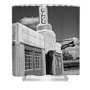 Route 66 - Conoco Tower Station Shower Curtain