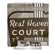Route 66 - Rest Haven Motel Shower Curtain