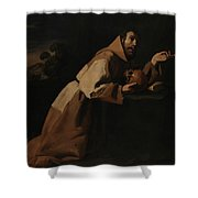 Saint Francis In Meditation Shower Curtain