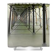 Saltburn Pier Shower Curtain