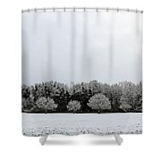 Snow On Epsom Downs Surrey Uk Shower Curtain