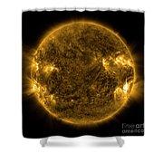 Solar Activity On The Sun Shower Curtain