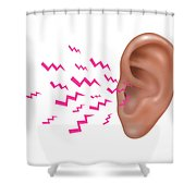 Sound Entering Human Outer Ear Shower Curtain
