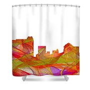 St Petersburg Florida Skyline Shower Curtain