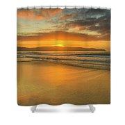 Sunrise Seascape At The Beach Shower Curtain