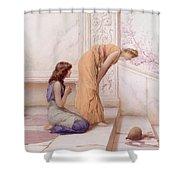 The Broken Pot Henry Ryland Shower Curtain