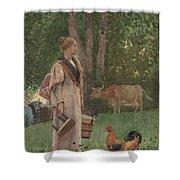 The Milk Maid Shower Curtain