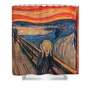 The Scream Ver 1893 Edvard Munch Shower Curtain