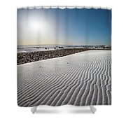 The Unique And Beautiful White Sands National Monument In New Mexico. Shower Curtain