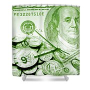 Time Is Money 16 Shower Curtain
