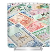 Travel Money - World Economy Shower Curtain
