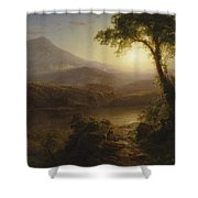 Tropical Scenery Shower Curtain