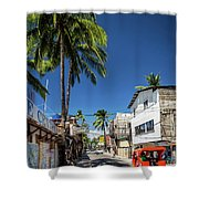 Tuk Tuk Trike Taxi Local Transport In Boracay Island Philippines Shower Curtain