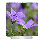Wood Cranesbill Shower Curtain