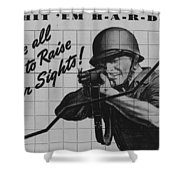 World War II Advertisement Shower Curtain